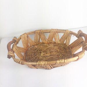 Other - Boho Wicker Nesting Woven Decorative Cutout Basket